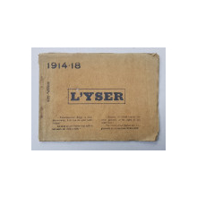 L 'YSER 1914 -1918 , ALBUM DE FOTOGRAFIE ALB - NEGRU , INETREBELICA