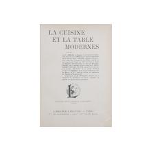 LA CUISINE ET LA TABLE MODERNES - PARIS