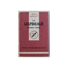 LA GRAPHOLOGIE par HERBERT HERTZ , 1947