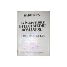 LA INCEPUTURILE EVULUI MEDIU ROMANESC.TARA HATEGULUI - RADU POPA , 1988