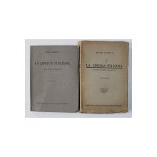 LA  LINGUA ITALIANA - EDIZIONE ROMENA di ENZO LORETI , VOLUMELE I - II , 1939 - 1942