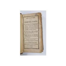 LE LIVRE DES COMPTES FAITS par BERREME  - 1798