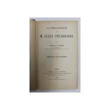 LA PHILOSOPHIE DE M. SULLY PRUDHOMME par CAMILLE HEMON , 1907