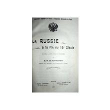 LA RUSSIE A LA FIN DU 19  SIECLE    - M.W. DE. KOVALEVSKY  - PARIS 1900