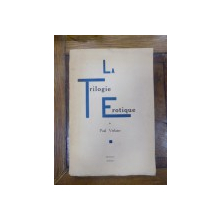 La Trilogie Erotique, Paul Verlaine, Bruxelles 1931