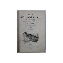 LA VIE DES ANIMAUX ILLUSTREE par A . E. BREHM , TOME III : LES OISEAUX , EDITIE DE SFARSIT DE SECOL XIX