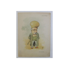 LASCAR CATARGIU - ' CONU LASCARACHE ' , CARICATURA , LITOGRAFIE de pictorul  NICOLAE PETRESCU - GAINA  (1871 - 1931 ), 1898,