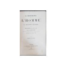 LE DESCENDANCE DE L'HOMME ET LA SELECTION SEXUELLE par CHARLES DARWIN - PARIS, 1881