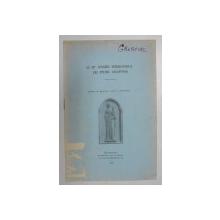 LE III e CONGRES INTERNATIONAL LES ETUDES BYZANTINES , 1930
