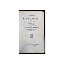 LE MEMORIAL DE W. SHAKSPERE par CHARLES LAMB - PARIS, 1842