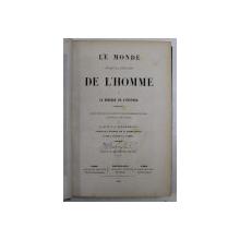 LE MONDE DE L ' HOMME , AVANT LA CREATION , OU LE BERCEAU DE L ' UNIVERS par W. F. A. ZIMMERMANN , 1857