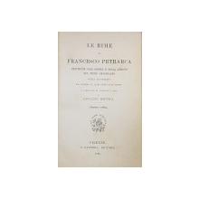 LE RIME DI FRANCESCO PETRARCA RESTITUTE NELL 'ORDINE E NELLA LEZIONE DEL TESTO ORIGINARIO di GIOVANII  MESTICA , 1896 , CONTINE EX LIBRIS de G. STERN *