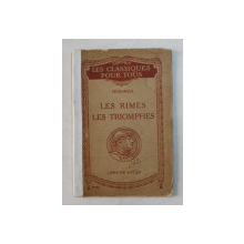 LE RIMES LES TRIOMPHES par PETRARQUE , EDITIE INTERBELICA