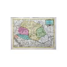 Le Sieur Janvier - Le Royaume de Hongrie Divisé en Haute et Basse Hongrie, Transilvanie... Harta cca. 1783