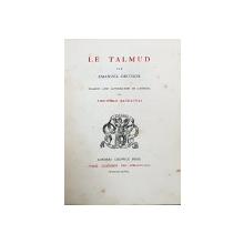 LE TALMUD par EMANUEL DEUTSCH  traduit par THEOPHILE BAUDAUNAS - LONDRA, 1868