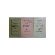 LECTIUNI DE EDUCATIUNE MORALA - PENTRU CURS INFERIOR de ROMULUS A. STANCULESCU , VOLUMELE I - III , 1938 , PREZINTA INSEMNARI SI SUBLINIERI *
