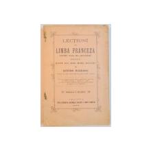 LECTIUNI DE LIMBA FRANCEZA PENTRU CLASA A III-A SECUNDARA PRELUCRATE DUPA CEI MAI BUNI AUTORI de STEFAN RUDEANU  1903