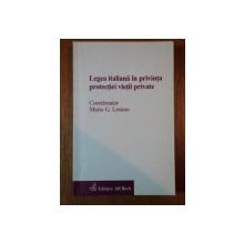 LEGEA ITALIANA IN PRIVINTA PRETECTIEI VIETII PRIVATE de MARIO G. LOSANO