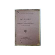 LEGEA TIMBRULUI SI A IMPOZITULUI PE ACTE SI FAPTE JURIDICE , 1927