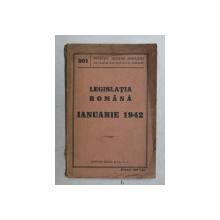 LEGISLATIA ROMANA , IANUARIE 1942