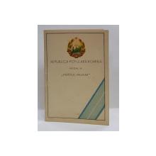 LEGITIMATIE PENTRU OFITER DECORAT CU MEDALIA ' MERITUL MILITAR ' CLS. I , 1954