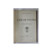 LEII DE PIATRA  - PRIVELISTI MODERNE  - MARINE - POVESTEA FIRULUI DE - ARGINT - VERSURI de MIRCEA RADULESCU , 1924