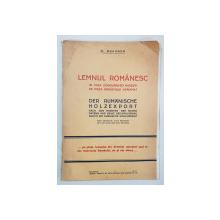 LEMNUL ROMANESC de H. BRAUNER - BUCURESTI, 1931