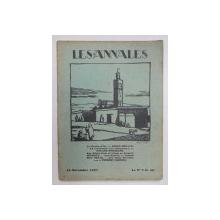 LES ANNALES POLITIQUES ET LITTERAIRES - GRANDE REVUE MODERNE DE LA VIE LITTERAIRE , 15 NOVEMBRE  1927