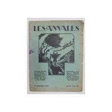 LES ANNALES POLITIQUES ET LITTERAIRES - GRANDE REVUE MODERNE DE LA VIE LITTERAIRE , 1er OCTOBRE 1927