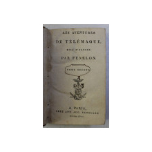 LES AVENTURES DE TELEMAQUE , FILS D ' ULYSEE par FENELON , TOME SECOND , 1802