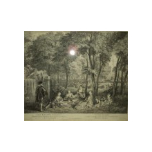 Les Champs Elisee, Nicholas Tardieu, gravura sec XVIII