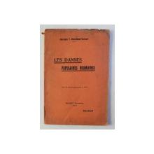 LES DANSES POPULAIRES ROUMAINES par GEORGES T . NICOLAESCO - VARONE , 1933