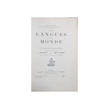 LES LANGUES DU MONDE par A. MEILLET et  MARCEL COHEN, BYZANTION, TOME I  - PARIS, 1924