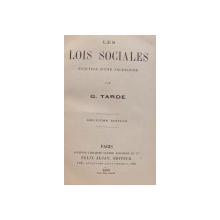 LES LOIS SOCIALES ESQUISSE D ' UNE SOCIOLOGIE par G. TARDE , 1899