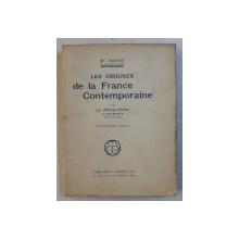 LES ORIGINES DE LA FRANCE CONTEMPORAINE , IV  - LA REVOLUTION ,  L' ANARCHIE  , TOME DEUXIEME par H. TAINE , EDITIE INTERBELICA