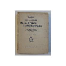 LES ORIGINES DE LA FRANCE CONTEMPORAINE , VI  - LA REVOLUTION ,  LA CONQUETE JACOBINE , TOME DEUXIEME par H. TAINE , 1922
