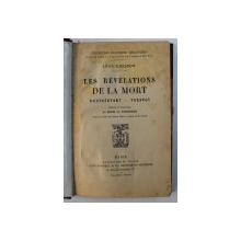LES REVELATIONS DE LA MORT - DOSTOIEVSKY - TOLSTOI par LEON CHESTOV , 1923