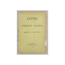 LETTRE DU PRINCE COUZA A MONSIEUR KOGALNICEANO - PARIS, 1888