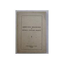LIBERTATEA RELIGIOASA IN REPUBLICA POPULARA ROMANA , 1949