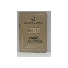 LIBRET DE ECONOMII ,  CASA  DE ECONOMII SI CONSEMNATIUNI A REPUBLICII POPULARE ROMANE , PE NUMELE TIPOGRAFULUI ILARIE CHENDI DIN BUCURESTI , ELIBERAT IN 1961