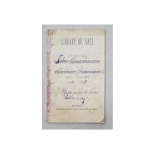 LIBRETU DE NOTE  - CARNET DE NOTE , EMIS DE GIMNAZIUL TUDOR VLADIMIRESCU  BUCURESTI , ANUL SCOLAR 1884 - 1885