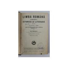 LIMBA ROMANA IN EVOLUTIA EI ISTORICA SI LITERARA PENTRU CLASA A VIII -A LICEE DE BAIETI SI FETE , SCOLI NORMALE , SEMINARII , ETC . de GH. NEDIOGLU , 1937 , PREZINTA SUBLINIERI CU CREIONUL *