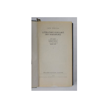 LITERATURA POPULARA DIN MARAMURES de ION BIRLEA , VOLUMUL I , 1968