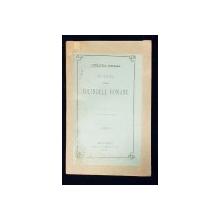 LITERATURA POPULARA, NOTIUNI DESPRE COLINDELE ROMANE de G. DEM. TEODORESCU - BUCURESTI, 1879