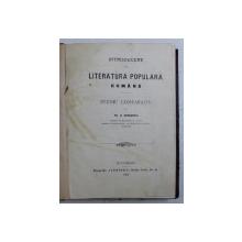 LITERATURA POPULARA ROMANA  - STUDIU COMPARATIV de TH. D . SPERANTIA , 1904
