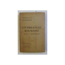 LITTERATURE ROUMAINE par B . MUNTEANO , 1938
