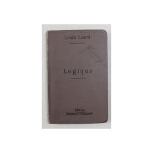 LOGICUE par LOUIS LIARD , INCEPUTUL SECOLULUI XX