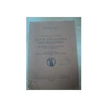 L'ORGANISATION GENERALE DE LA VIE COLLECTIVE DES ORGANISMES