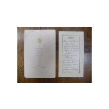 Lot doua meniuri, semnatura Take Ionescu