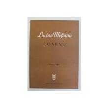 LUCIAN METIANU - CONEXE , POEM VOCAL - SIMFONIC PE VERSURI de ION BARBU , PARTITURA , 1979